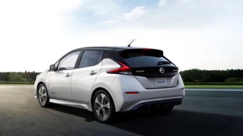 Nissan Leaf - tył samochodu